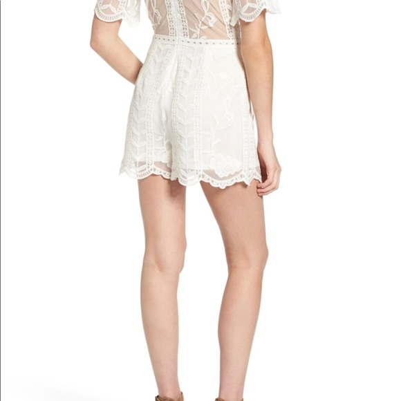 7dd1c85245f1 Socialite Plunge Lace Romper- excellent condition